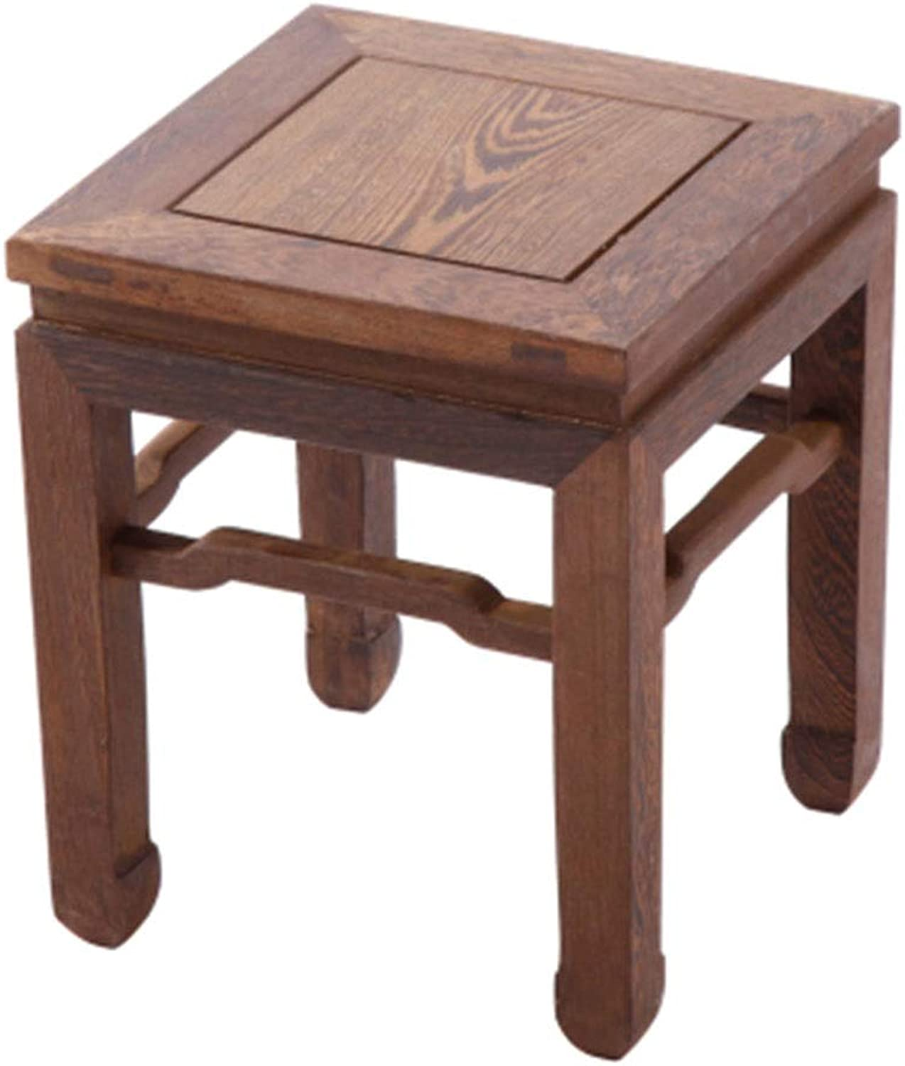 B.YDCM Wooden Bench- Stool Home Living Room Solid Wood Dining Chair Square Stool Coffee Table Restaurant Small Bench - Wood Bench
