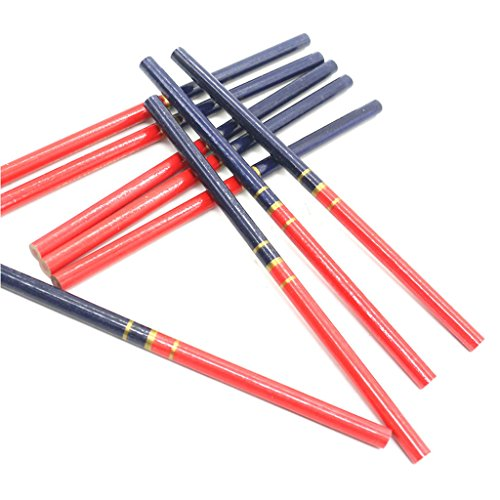 ZOOMY 10 Stück/Set Blauen und Roten Draht Runde Tischler Bleistifte Für Holzbearbeitung Core Marker