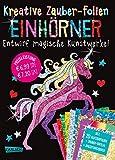 Kreative Zauber-Folien: Einhörner: Set mit 10 Zaubertafeln, 20 Folien und Anleitungsbuch