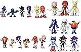 figura sonic 21 unids/lote 4-9 cm Super Sonic the Hedgehog figuras juguete Pvc juguete Sonic Shadow ...