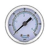 TOPINCN - Manómetro de presión de acero para la parte...