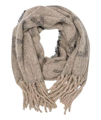 Liebeskind Damen H7199300 Wool Scarf Schal, Beige (Offwhite F 0798), One Size (Herstellergröße: N)