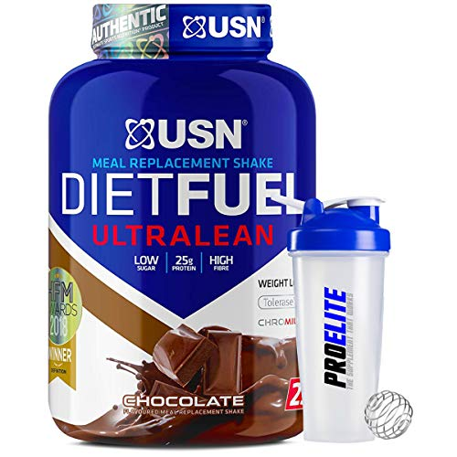 USN Meal Replacement Shake Diet Fuel Ultralean Protein 2KG Weight Loss Powder + Shaker