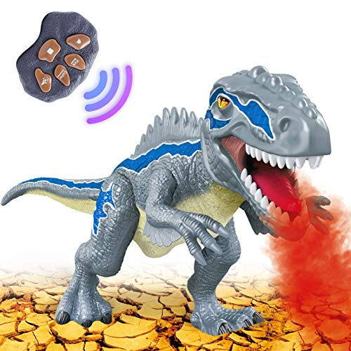 Dinosaur Toys for 3-5 Year Old Boys Girls, Electronic Dinosaur Toy Walking with LED Light Up Roaring Realistic Simulation Sounds Dino Remote Control Dinosaur Toys for Kids Gifts Age 3 4 5 6 7