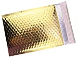HOSL Metallic Padded Bubble Mailers shipping envelopes (Gold, 20Pack 6.25'(W) x 9.25'(L) (Inner))