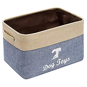 Linen Storage Basket Bin Chest Organizer – Perfect for Organizing Dog Toys Storage, Dog Shirts, Dog Coats, Dog Toys, Dog Clothing, Dog Dresses, Gift Baskets