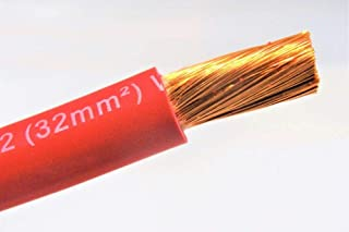 2 AWG GAUGE WELDING & BATTERY CABLE RED NEW MADE IN USA COPPER 75' FT EXCELENE