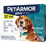 PETARMOR Plus for Dogs Flea and Tick Prevention for Medium Dogs (23-44...