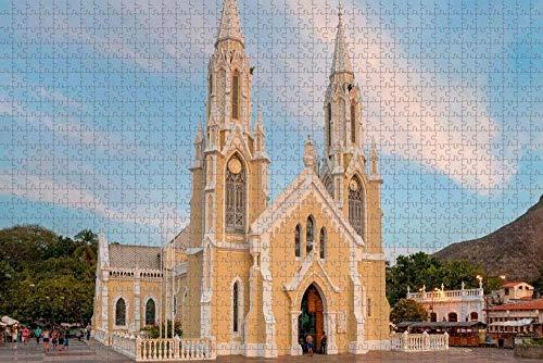 Rompecabezas para Adultos, Venezuela, Isla de Margarita, Basílica de Nuestra Señora del Valle, Rompecabezas de 1000 Piezas de Madera, Recuerdo de Viaje