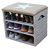 Liza Line Moderne Möbel für Schuhe oder andere Gegenstände Schuhbank mit Sitzkissen Sitzbank Schuhschrank Schuhregal | umweltfreundlich