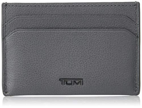TUMI - Nassau Slim Card Case Wallet with RFID ID Lock for Men - Grey Texture