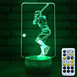 FlyonSea Baseball Light,Baseball Gifts Bedside Lamp 7 Colors...
