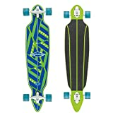 Osprey Phoenix Complete Twin Tip Longboard Skateboard, Brown, 41 x 9.5 Inches, 70 x 50 mm Wheels