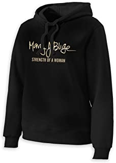 TheresaTucker Mary J Blige Women's Pullover Long Sleeve Hoodies Tunics Loose Casual Sweatshirts
