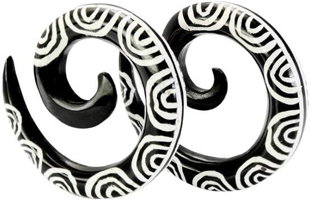 Calypto Wholesale Organic Body Jewelry Horn Tatoo Spirals 6g - 00g - Price Per 1