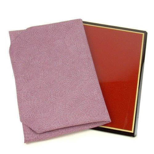 [楽市きもの館] 正絹 台付袱紗 ふくさ 鮫小紋/紫