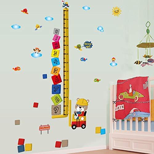 GCCQT Klein Beer Heftruck Muurstickers, Verwijderbare Muurstickers, Waterdicht Muurpapier, voor TV-achtergrond, Decor Mural Art Decal Home Decor, Verjaardagscadeau voor Jongens en Meisjes