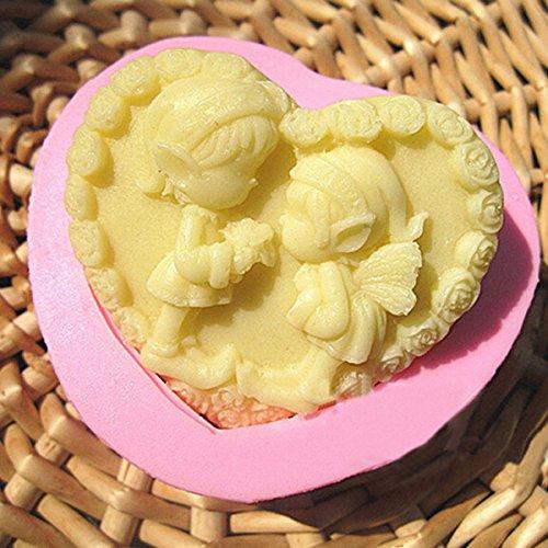 Bluelover Lovely Ange Fait Main Savon Moule En Silicone Fondant Moule À Gâteau