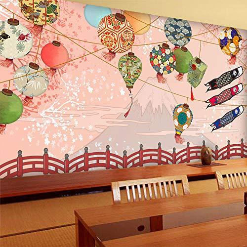 Fotomurales Decorativos Pared Vinilos Decorativos Papel Fotografico 3D Flor De Cerezo Japonés Decoración De La Pared Mural Fondo De Papel Tapiz Japonés Y Viento Restaurante De Sushi Restaurante Japon