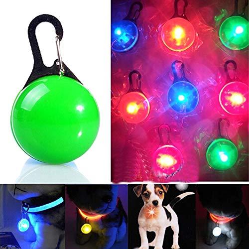 Haustier LED-Taschenlampe for Hundekatze-Kragen glühender Anhänger Luminous Helle Dekoration Krägen (Color : Green)