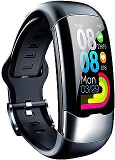 Iriisy Pulsera Inteligente,Smartwatch,Reloj Inteligente con Pulsómetro ECG Ejercicio Monitoreo de Frecuencia Cardíaca Duración de la batería Pulsera Larga Carga Directa USB