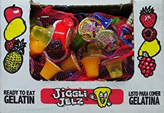 JiGGLi JELZ 24 Pieces Assorted Flavors Fat Free (1-24 Individual Cups)