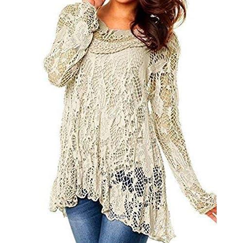 cdedf9eed40 CELEB LOOK R33 Celebmodelook Womens Ladies Dip Hem Crochet Mesh Tunic Plus  Size Vest Twin Top