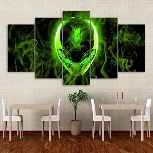 Green Alienware print art wall pintado sobre lienzo sala de estar decoración...