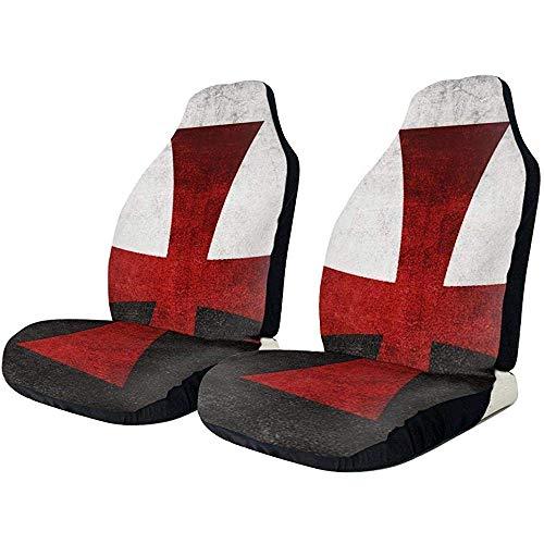 Beth-D autostoelhoezen, zwart-witte vlag met rode ijzeren kruis autostoelbekleding voorstoelen slechts 2-delige set zitgarnituur voor de meeste voertuigen