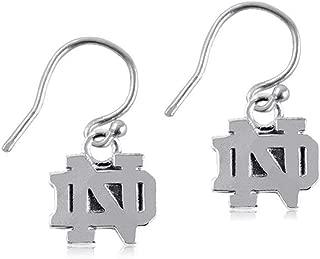 Dayna Designs Silver Dangle Earrings - Notre Dame