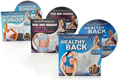Pilates Power Gym Total Body Fitness 3 DVD Set Total Body Healthy Back Restorative Pilates Workout product image