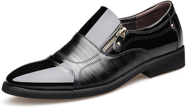 WLFHM Herrenschuhe Frühling Kleid Schuhe Koreanische Business Casual England Spitze Schuhe