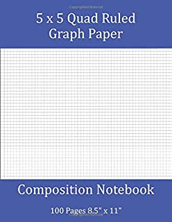 5x5 Quad Ruled Graph Paper Composition Notebook 100 Pages 8