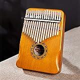 WYGC Kalimba,Thumb Piano,Thumb Piano 17 Teclas Piano de Dedo de Instrumento Cancionero rápido para Aprender (Color : Orange)