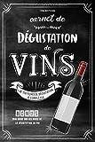 Carnet de Dégustation de Vins: + de 170 fiches à remplir | Bonus: Mini guide sur les bases de la dégustation