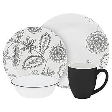 Corelle Vive 16-Piece Floral Pattern Dinnerware Set, Reminisce