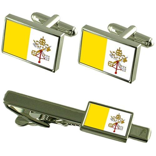 Select Gifts Ciudad del Vaticano la Bandera del Vaticano Gemelos Clip de Corbata Box Set de Regalo