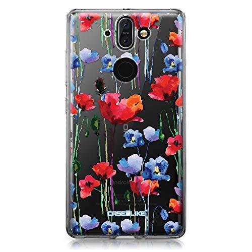 CASEiLIKE® Custodia Nokia 8 Sirocco Cover, Acquerello Floral 2234 Disegno Ultra Sottile Paraurti TPU Caso Silicone per Nokia 8 Sirocco