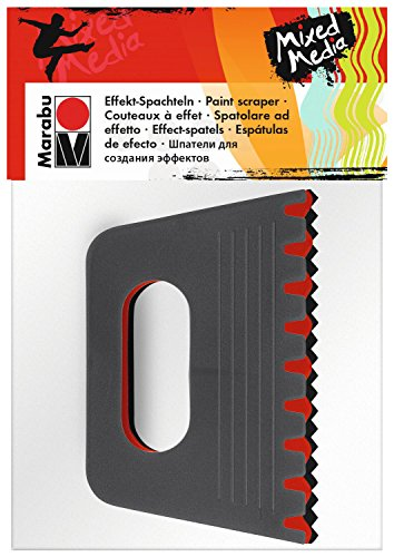 Marabu 0173000000030 - Effekt Spachtel Set, 3 Malspachtel in verschiedenen Formen, für Strukturen und Muster in Farben, Pasten und Gelen