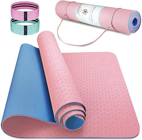 Esterilla Deporte Antideslizante Estera Yoga Colchonetas Pilates Mat Fitness Ecológica TPE...