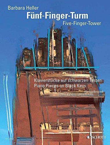 Fünf-Finger-Turm: Klavierstücke auf schwarzen Tasten. Klavier.