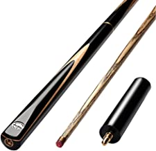 E-HONER 2 Pcs 145cm//57inch American Snooker Wood Pool Cue Assemble Children Adult Home Billiards Exercising Entertaining Tools Supply