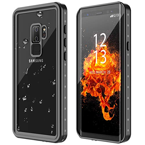 Nineasy Samsung Galaxy S9+ Plus Case,S9+ Plus Waterproof Case Full Body Protective with Built-in Screen Protector IP68 Underwater Cover Heavy Duty Dustproof Case for S9 Plus(6.1')