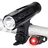 Te-Rich Bike Lights, USB Rechargeable Front Bicycle Light and LED Rear Bike Light