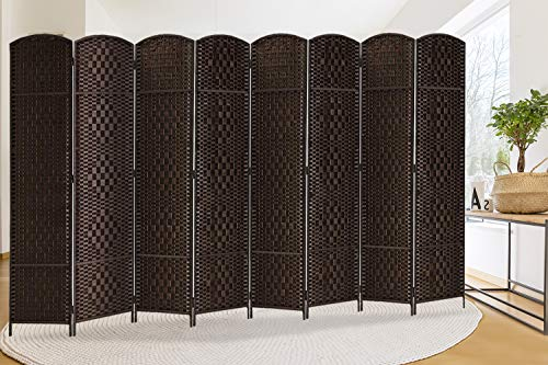Find Discount Rose Home Fashion RHF 6 ft. Tall-Extra Wide-Diamond Weave Fiber Room Divider,Double Hi...