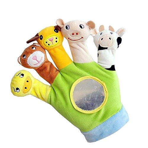 PLTyfsail Dibujos Animados Animal Dedo Juguetes Felpa Educativos De Mano Marionetas Para Niños Bebé Niños