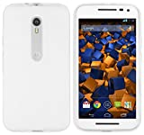 mumbi Funda Compatible con Motorola Moto G3 Caja del teléfono móvil, Blanco Transparente