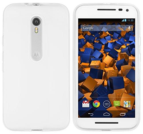 mumbi Hülle kompatibel mit Motorola Moto G3 Handy Hülle Handyhülle, transparent weiss