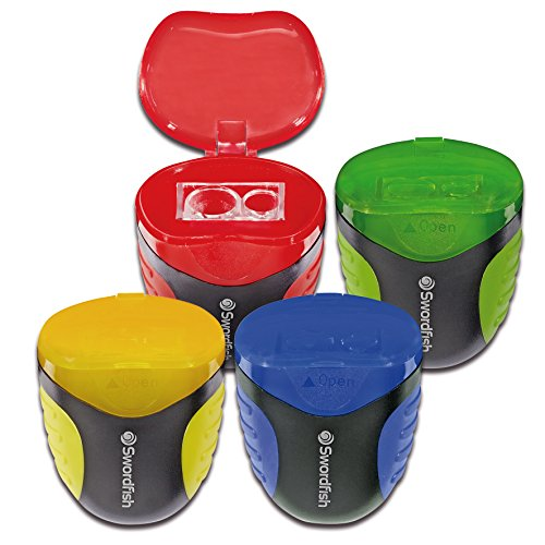 Swordfish  Canister Flip  Double Hole Canister Pencil Sharpener [Pack of 1] Assorted Colours [40291]