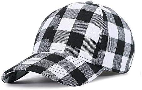 Gorra de Tela Escocesa Negra y roja de algodón Bailarina, Gorra de béisbol de Comercio Exterior para Hombre, Gorra Coreana, Verano